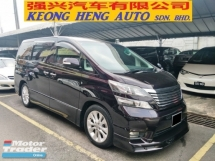 2009 TOYOTA VELLFIRE 2.4 Z PLATINUM SELECTION (FREE 2 YEARS WARRANTY) REG 2013