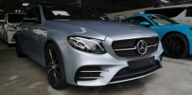 2017 MERCEDES-BENZ E-CLASS E43 AMG 3.0 4MATIC / READY STOCK NO NEED WAIT / 4 YEARS WARRANTY UNLIMITED KM / ORIGINAL MILEAGE NO