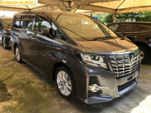 2016 TOYOTA ALPHARD 2.5 S Edition 8 Seat 360 Surround Camera Automatic Power Boot 2 Power Doors Intelligent LED Smart Entry Push Start Button 3 Zone Climate Control 9 Air Bags Unreg