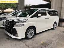 2016 TOYOTA VELLFIRE 2.5 ZA 360 Surround Camera 7 Seat Automatic Power Boot Sun Roof Moon Roof 2 Power Door Intelligent Bi LED Smart Entry Push Start 3 Zone Climate Auto Cruise Multi Function Steering Bluetooth Connectivity 9 Air Bag Unreg