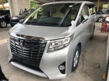 2015 TOYOTA ALPHARD 2.5 2AR-FE Dual VVT-i Power Door Intelligent Bi-LED Smart Entry Push Start Button Reverse Camera Multi Function Steering 3 Zone Climate Control 9 Air Bags Unreg