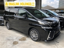 2015 TOYOTA VELLFIRE 2.5 ZG Edition 360 Surround Camera Memory Pilot Seat Automatic Power Boot 2 Power Doors Intelligent Bi LED Smart Entry Push Start 9 Air Bag Unreg