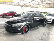 2014 MERCEDES-BENZ CLA CLA45 AMG 2.0 Turbocharged 360hp Panoramic Roof Distronic PLUS Multi Function Paddle Shift Steering Brembo Brake Memory Seat Blind Spot Indicator Mercedes Benz Interface Bi-Xenon Light Parktronic Bluetooth Connectivity Unreg