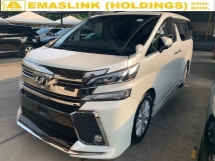 2015 TOYOTA VELLFIRE 2.5ZA MODELISTA KIT SURROUND CAMERA POWERBOOT UNREG OFFER NEGO !