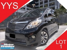 2011 TOYOTA ALPHARD 2.4 (A) VVT-I 240S PRIME SELECTION II 7 SEATER CLEAN INTERIOR ACC FREE GOOD CONDITION PROMOTION PRICE.