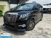 2016 TOYOTA ALPHARD 2.5 SC FULL LEATHER SEATS/SURROUND CAM/JBL SOUND SYSTEM UNREG