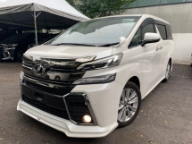 2015 TOYOTA VELLFIRE 2.5 ZA JBL HOME THEATRE SOUND SYSTEM 2 POWER DOOR 7 SEATER UNREG