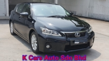 2013 LEXUS CT200H HYBRID LUXURY 1.8 (A) Low Mileage 65k Km Car Keep In Excellent Condition Accident Free No Repair Need Worth Buy