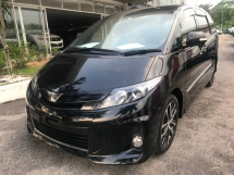 2015 TOYOTA ESTIMA 2.4 AERAS VERY PREMIUM RARE UNIT [FULL NAPPA LEATHER , BLACK ROOF , ALPINE DVD AND ROOF MONITOR] 4 YEARS WARRANTY LOWEST PRICE IN TOWN !