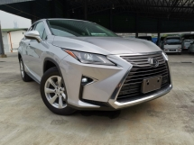2016 LEXUS RX 200T BASE SPEC SILVER SPECIAL OFFER UNREG