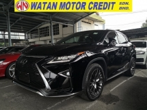 2017 LEXUS RX RX200t F PSORT PAN ROOF 360 CAM HUD PRE CRASH JAPAN UNREG
