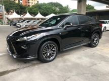 2016 LEXUS RX RX200t F Sport 2.0 Turbocharged 360 Camera Pre Crash Head Up Display Running LED Intelligent Lane Departure Assist Multi Function Paddle Shift Steering Smart Entry Lane Departure Assist Bluetooth Connectivity Unreg