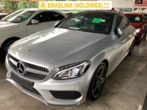 2016 MERCEDES-BENZ C-CLASS  C200 AMG coupe 2.0 panoramic roof keyless go back camera memory seats power boot unregistered