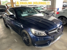 2017 MERCEDES-BENZ C-CLASS C300 AMG coupe panoramic roof power boot Memory seat Burmester sound system unregistered