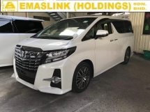 2016 TOYOTA ALPHARD 2.5 SC SUNROOF MOONROOF JBL SOUND SYSTEM 360 SURROUND CAMERA FREE WARRANTY