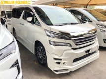 2015 TOYOTA VELLFIRE 2.5 ZG TRD Edition Alpine Full Set 360 Surround Camera Sun Roof Moon Roof Memory Pilot Seat Automatic Power Boot 2 Power Doors Intelligent Bi-LED Smart Entry Push Start 3 Zone Climate Roller Blind Auto Lights Wiper 9 Air Bags Unreg
