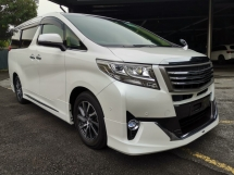 2015 TOYOTA ALPHARD 2.5 G JBL Home Theater Sound Modelista Kit Unreg Sale Offer