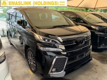 2015 TOYOTA VELLFIRE 2.5ZG FULLY LOADED FULL SPEC JBL SUNROOF SURROUND CAMERA PILOT SEAT LEATHER UNREG NEGO OFFER PROMOTION