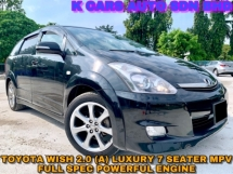 2008 TOYOTA WISH 2.0G LUXURY 7 SEATER FULL SPEC