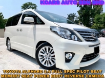 2012 TOYOTA ALPHARD 2.4 FULL SPEC PILOT SEAT ELECTRIC SEAT POWER BOOT
