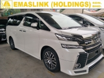 2015 TOYOTA VELLFIRE 2.5 ZG FULL SPEC JBL SYSTEM PRE CRASH STOP SYSTEM SUNROOF AUTO CRUISE 360 SURROUND CAMERA POWER BOOT