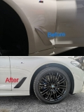 BMW G30 5 Series Fender Flap Black Oracal wrapping Delete Chrome x2 Exterior & Body Parts > Others