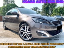 2016 PEUGEOT 308 1.6 THP FULL SPEC UNDER WARRANTY PANORAMIC ROOF