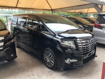 2017 TOYOTA ALPHARD 2.5 SC Edition 360 Surround Camera Sun Roof Moon Roof Pilot Memory Seat 3 Zone Climate Smart Entry Push Start Intelligent LED Auto Cruise Control 9 Air Bags Unreg