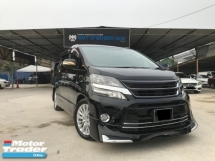 2014 TOYOTA VELLFIRE 2.4 FACELIFT - VIP SPORTY BODYKIT - NICE PLATE 2 DIGIT - WARRANTY 1 YEAR - 2 POWER DOOR - LCD PLAYER - REVERSE CAM - AUTO CRUISE - OFFER PROMOSI