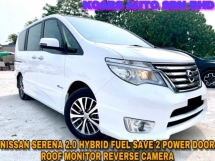 2015 NISSAN SERENA 2.0 S Hybrid Highway Star 2 POWER DOOR ROOF MONITOR FREE WARRANTY