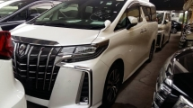 2018 TOYOTA ALPHARD 2.5 SC New Facelift 360 Camera Pre-Collision Radar System Lane Departure Assist Running Intelligent Adaptive Bi-LED Sun Roof Moon Roof Pilot Memory Seat Smart Entry Climate Control 9 Air Bags Unreg