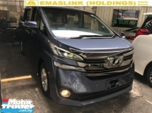 2015 TOYOTA VELLFIRE 2.5 X POWER DOOR 8 SEATER FREE WARRANTY LOCAL AP