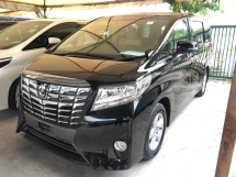 2016 TOYOTA ALPHARD 2.5 Dual VVT-i 360 Camera Automatic Power Boot Pre-Crash 2 Power Doors Intelligent LED Smart Entry Push Start 3 Zone Climate Control 9 Air Bags Unreg
