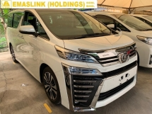 2018 TOYOTA VELLFIRE 2.5ZG 3LED NEW FACELIFT JUST ARRIVAL PILOT SEAT