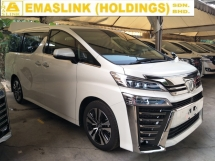 2018 TOYOTA VELLFIRE 2.5 ZG NFL 3 LED HEADLAMPS SYSTEM DAYTIME LED SUNROOF FULL NIPPA LEATHER PILOT SEATS