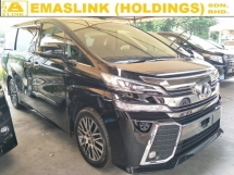 2017 TOYOTA VELLFIRE 2.5 ZG SUNROOF MOONROOF 360 SURROUND CAMERA POWER BOOT AUTO CRUISE CONTROL