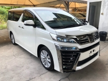 2018 TOYOTA VELLFIRE 2.5 ZA New Facelift 360 Camera Power Boot 2 Power Doors Pre-Crash Lane Departure Assist Road Sign Assist Intelligent Bi-LED Smart Entry Bluetooth 3 Zone Climate 9 Air Bags Unreg