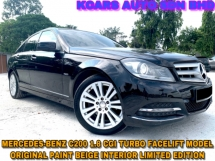 2013 MERCEDES-BENZ C-CLASS C200 BLUE EFFICIENCY FACELIFT MODEL FREE WARRANTY