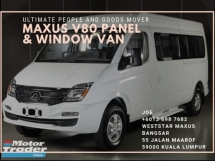 2019 MAXUS V80 PANEL & WINDOW VAN (OFFICIAL AGENT)
