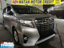 2015 TOYOTA ALPHARD 2.5 G X UNREG TRUE YEAR CAN PROVE.7 8 SEATER.3 POWER DRS N BOOT.360 SURROUND CAMERA.LUXURY INTERIOR.FREE WARRANTY N MANY GIFTS