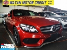 2015 MERCEDES-BENZ C-CLASS C200 AMG UNREG TRUE YEAR MADE CAN PROVE.FULLSPEC.ORI AMG BODYKIT N RIM.PADDLE SHIFT.PRE CRASH.REVERSE CAMERA.LANE ASSIST.MEMORY SEAT.LEATHER N ETC.FREE WARRANTY N MANY GIFTS