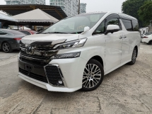 2015 TOYOTA VELLFIRE 2.5 ZG SUNROOF/SURROUND CAM/PRE CRASH UNREG