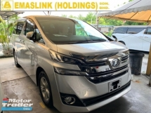 2016 TOYOTA VELLFIRE 2.5X UNREG TWIN SUNROOF PRE CRASH WARNING SYSTEM 8 SEATER