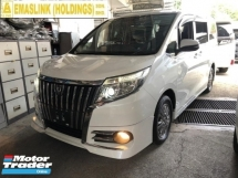 2015 TOYOTA ALPHARD 2.0 TOYOTA ESQUIRE 2.0 GI PUSH START KEYLESS REVERSE CAMERA 2 POWER DOOR 7 SEATER MPV