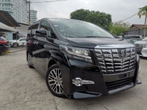 2015 TOYOTA ALPHARD 2.5 SC SUNROOF/FULL LEATHER/FULL ALPINE/PRE CRASH UNREG
