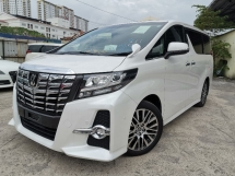 2015 TOYOTA ALPHARD 2.5 SC JBL HOME THEATER/SUNROOF/FULL LEATHER UNREG