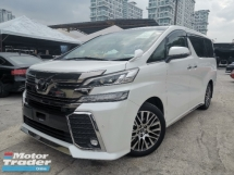 2015 TOYOTA VELLFIRE 2.5 ZG PRE CRASH/2POWER DOOR/PILOT SEATS UNREG