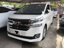 2015 TOYOTA VELLFIRE Unreg Toyota Vellfire 2.5 7seather Camera PowerDoor Push Start 7G