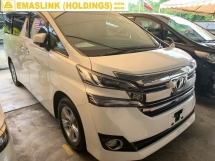 2016 TOYOTA VELLFIRE 2.5X NEW ARRIVAL UNREGISTER CHEAPEST IN TOWN