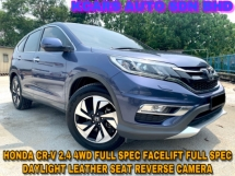 2016 HONDA CR-V 2.4 4WD FULL SPEC PADDLESHIFT FULL SVC RCD ORI PAINT